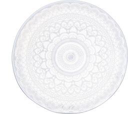 4LIVING Dywanik łazienkowy Pitsi 70x70cm biały