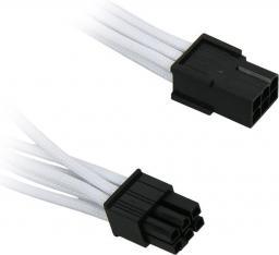 BitFenix Przedłużacz 6-Pin PCIe 45cm - opływowy biało czarny ( BFA-MSC-6PEG45WK-RP )