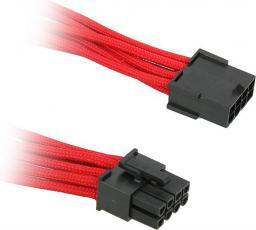 BitFenix Przedłużacz 8-Pin PCIe 45cm - opływowy czerwono czarny ( BFA-MSC-8PEG45RK-RP )