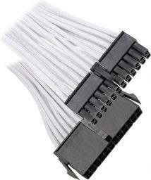 BitFenix Przedłużacz ATX 24-Pin 30cm - opływowy biało czarny ( BFA-MSC-24ATX30WK-RP )