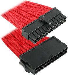 BitFenix Przedłużacz ATX 24-Pin 30cm - opływowy czerwono czarny ( BFA-MSC-24ATX30RK-RP )