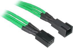 BitFenix Przedłużacz do wentylatorów 3-Pin 60cm - opływowy zielono czarny ( BFA-MSC-3F60GK-RP )
