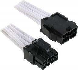 BitFenix Przedłużacz EPS12V 8-Pin 45cm - opływowy biało czarny ( BFA-MSC-8EPS45WK-RP )