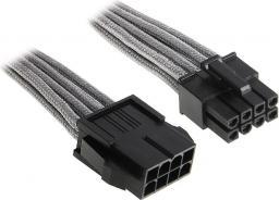 BitFenix Przedłużacz EPS12V 8-Pin 45cm - opływowy srebrno czarny ( BFA-MSC-8EPS45SK-RP )