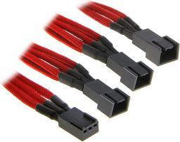 BitFenix Rozgałęźnik 3-Pin na 3x 3-Pin 60cm - opływowy czerwono czarny ( BFA-MSC-3F33F60RK-RP )