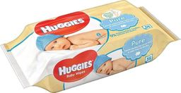 Huggies Drėgnos servetėlės HUGGIES Pure Single, 56vnt.