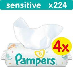 Pampers Pampers drėgnos servetėlės Baby Wipes Sensitive, 4x56 vnt.