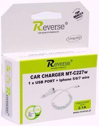 Ładowarka Reverse Ładowarka samochodowa REVERSE IPHONE USB C227W biała 2.1A