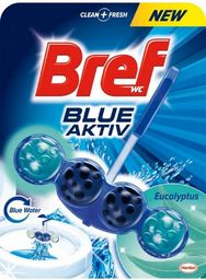 "BREF WC valiklis-gaiviklis ""BREF Blue Aktiv Eucalyptus"" 50g"