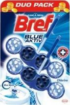 BREF WC Cleaner-BREF Niebieski Aktiv Chlor 2x50g