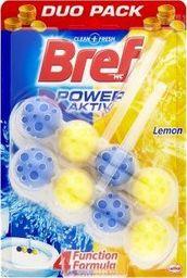 """BREF Środek do czyszczenia WC """"BREF Power Aktiv Lemon"""" 2x50g"""
