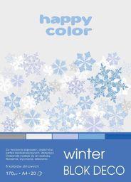 Blok biurowy GDD Blok A4/20K Deco Winter 170g HAPPY COLOR