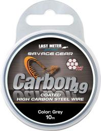 Savage Gear Carbon49 0.48mm 11kg 24lb Coated Grey 10m (54895)