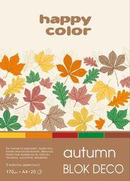 Blok biurowy GDD Blok A4/20K Deco Autumn 170g HAPPY COLOR