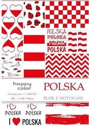 Blok biurowy GDD Blok A4/10 z motywami Polska HAPPY COLOR