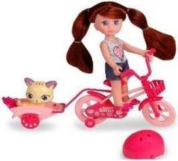 Artyk Lalka Natalia z rowerem i kotkiem