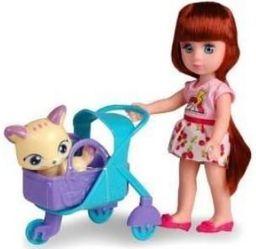 Artyk Lalka Natalia z kotkiem w wózku (301820)