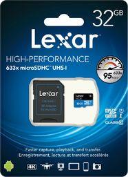 Karta Lexar 633x MicroSDHC 32 GB Class 10 UHS-I/U1  (843367110629)