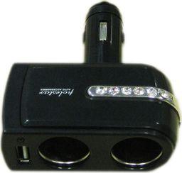 Alburnus Skirstytuvas 2 lizdų 1 USB jungtis