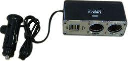 Alburnus Skirstytuvas 2 lizdų 2 USB jungtys