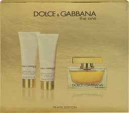 Dolce & Gabbana The One: EDP 75 ml +  balsam do ciała 50 ml + żel pod prysznic 50 ml