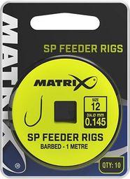 Fox Matrix Przypony z Haczykami - SP Feeder Rigs roz.12  0.145mm 1m 10szt (GRR040)
