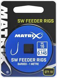 Fox Matrix Przypony z Haczykami - SW Feeder Rigs 1m roz.16 10szt (GRR036)