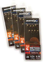 Fox Matrix Przypon z Haczykiem - Carp Rigger Hair Rigs Barbless roz.18 8szt (GHK108)