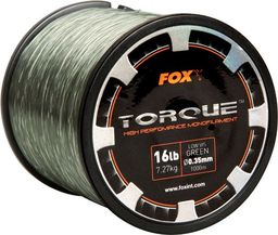 FOX Torque Carp Line Low Vis Green 0.30mm/11lb/5.00kg x 1000m (CML145)