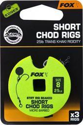 FOX Edge Armapoint stiff Rig beaked Chod Rigs x 3 25b sz8 SHORT (CCR166)
