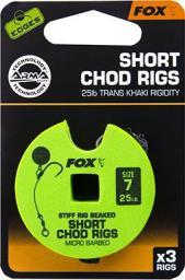FOX Edge Armapoint stiff Rig beaked Chod Rigs x 3 25lb sz7 SHORT (CCR165)