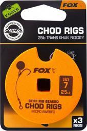 FOX Edge Armapoint stiff Rig beaked Chod Rigs x 3 25lb sz7 STD (CCR158)