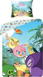 Angry Birds Pościel Angry Birds 160x200 cm + poduszka 70x80 cm niebiesko-fioletowa