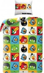 Angry Birds Pościel Angry Birds 160x200 cm + poduszka 70x80 cm biało-zielona