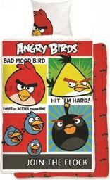 Angry Birds Pościel Angry Birds 160x200 cm + poduszka 70x80 cm czerwono-żółta