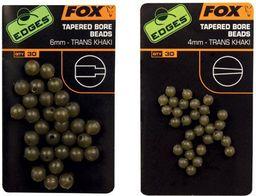 FOX Edges 4mm Tapered Bore Beads x 30 - Trans Khaki (CAC557)