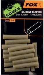 FOX Edges Silicone Sleeves 3mm x 25mm - Trans Khaki x 15szt. (CAC571)