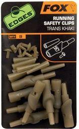 FOX Edges Running Safety Clips - Trans Khaki x 8 (CAC582)