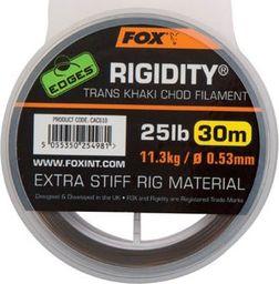 FOX Edges Rigidity Chod Filament 0.57mm 30lb x 30m - Trans Khaki (CAC611)