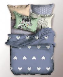 Decoking Pościel niebiesko-biała Chill 155x220cm + poduszka 80x80cm