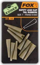 FOX Edges roz. 7 Lead Clip Tail Rubbers - Trans Khaki (CAC478)
