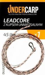 Under Carp Leadcore z klipsem uniwersalnym 45lb 100cm brązowy