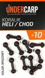 Under Carp Koralik Heli/Chod brązowy 10szt.