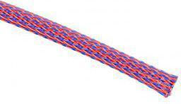 Techflex Rurka termokurczliwa Flexo PET 6mm Niebiesko-czerwona 1m (PTNO.25-SH)