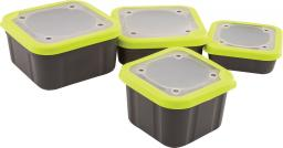 Fox Matrix Grey/Lime Bait Boxes Solid Top 1l Compact (GBT019)