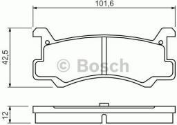 Bosch Klocki hamulcowe MAZDA T. MX-3