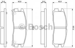 Bosch Klocki hamulcowe - komplet (0 986 461 145)