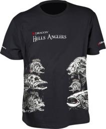 Dragon Fishing T-shirt Hells Anglers Mix czarny r. M