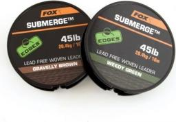 FOX Submerge lead free leader brown 35lb x 10m (CAC465)