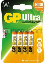 GP Bateria Ultra AAA / R03 4szt.